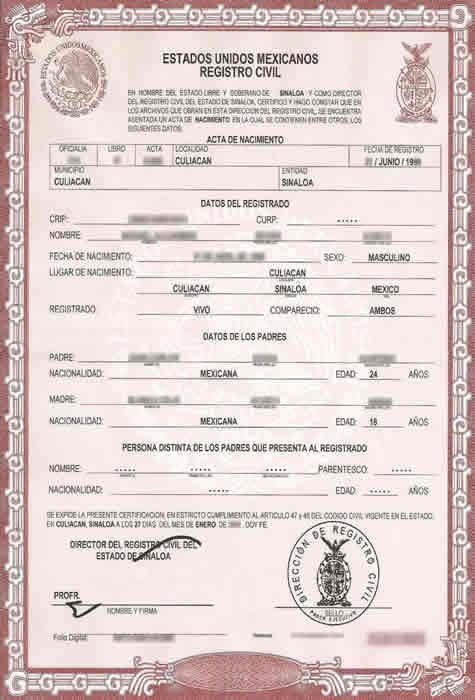 Mexico Birth Certificate Template Fresh Birth Certificate Translation Services for Uscis Fast and