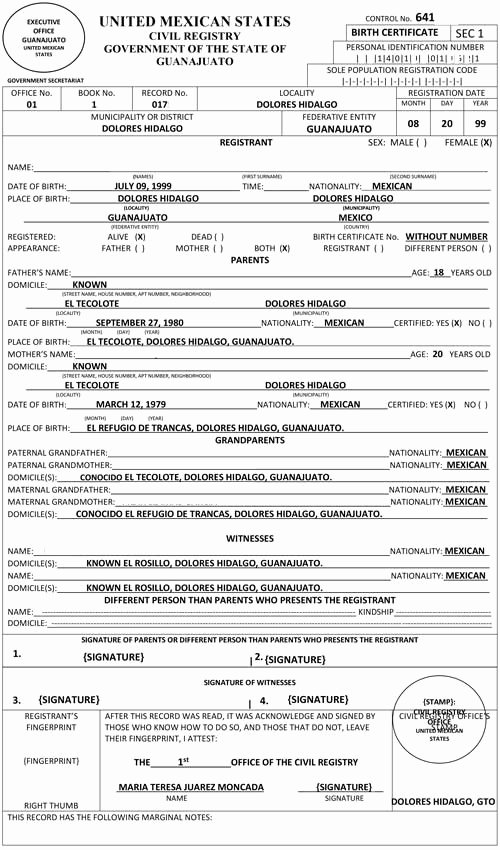 Mexico Birth Certificate Translation Template Best Of Spanish Birth Certificate Translation 24 Hour