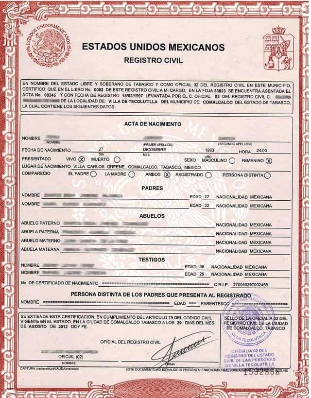 Mexico Birth Certificate Translation Template Inspirational Birth Certificate Translation Services Certified