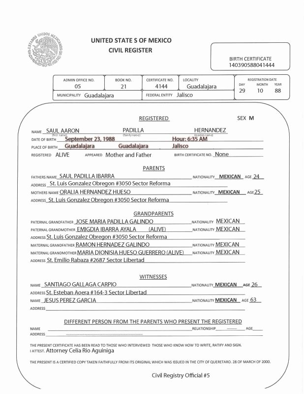 Mexico Birth Certificate Translation Template New Official Q&a for Daca forms Part 2 Page 31 Dream Act