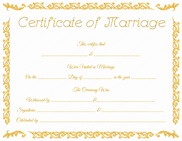 Microsoft Office Marriage Certificate Template Awesome Printable Marriage Certificate Template Dotxes