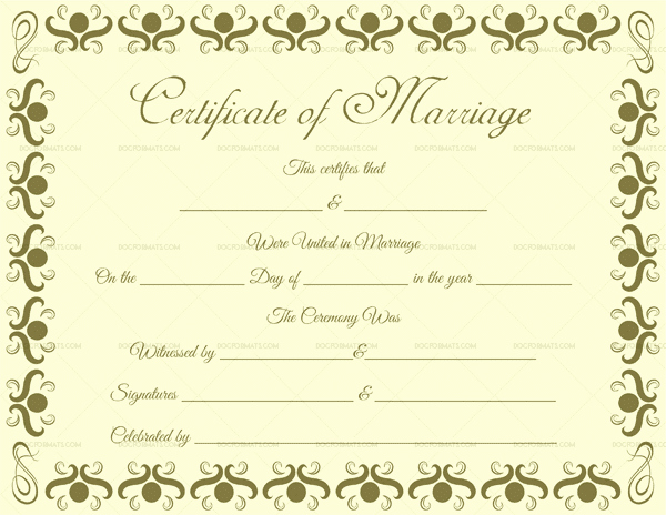 Microsoft Office Marriage Certificate Template Best Of Marriage Certificate Template 22 Editable for Word