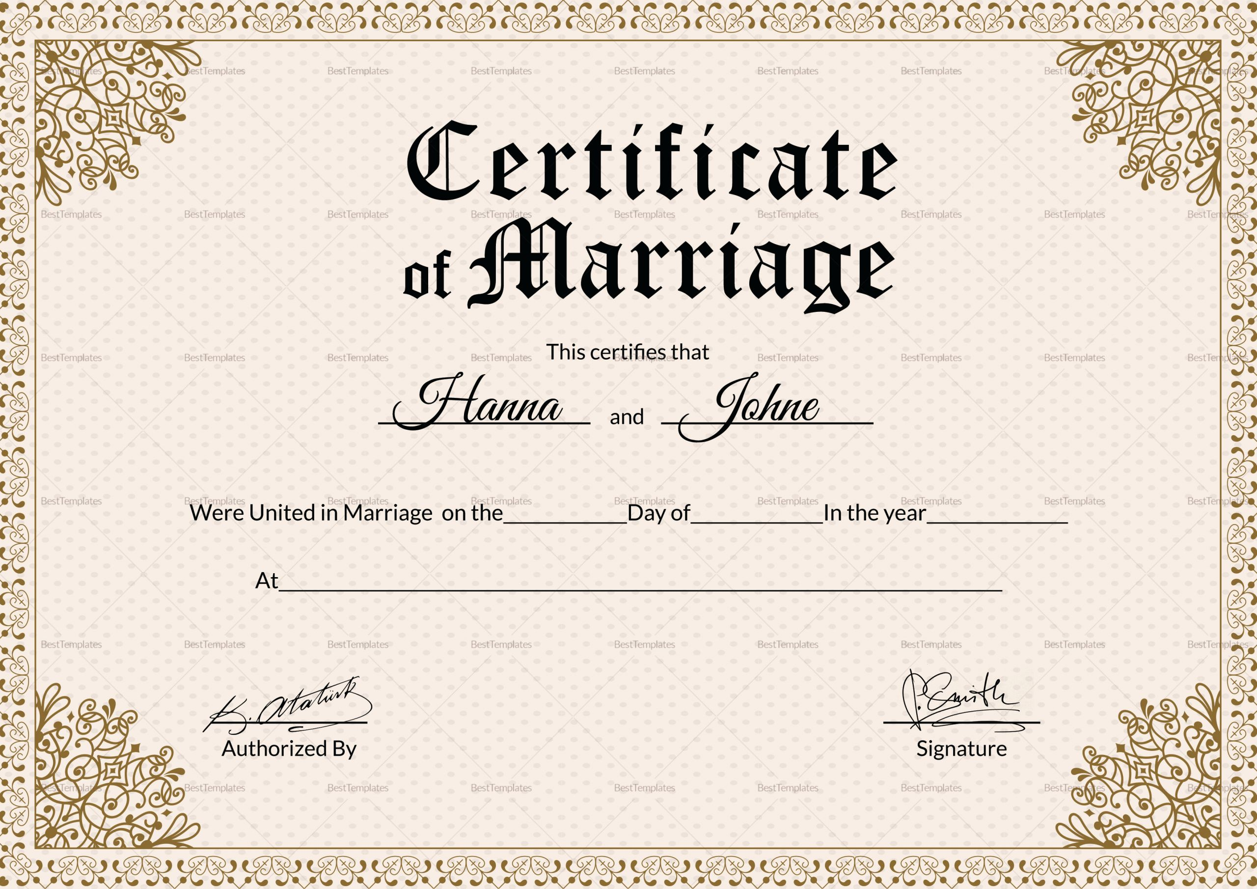 Microsoft Office Marriage Certificate Template Elegant Keepsake Marriage Certificate Design Template In Psd Word