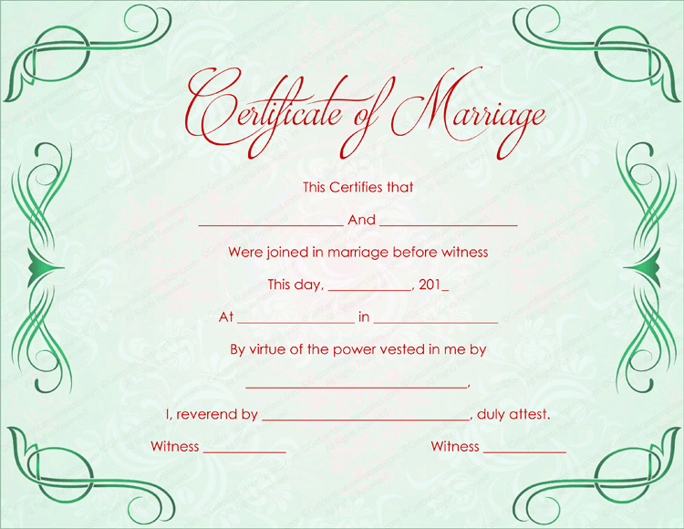 Microsoft Office Marriage Certificate Template Elegant Marriage Certificate Template 22 Editable for Word