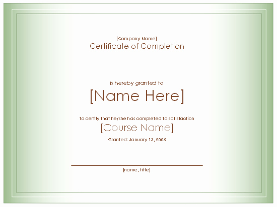 Microsoft Powerpoint Certificate Templates Elegant Award Certificate for Pletion Of Course