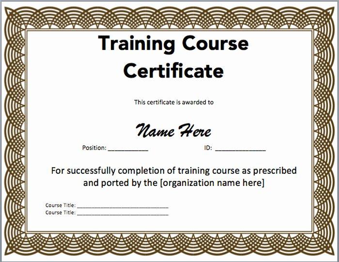 Microsoft Powerpoint Certificate Templates Inspirational 15 Training Certificate Templates Free Download Designyep