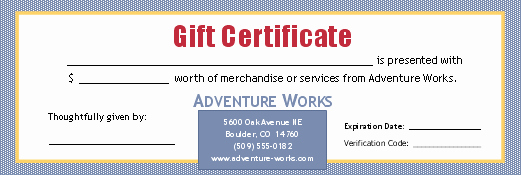 Microsoft Powerpoint Certificate Templates Unique Gift Certificate for Cash Sum 3 Per Page