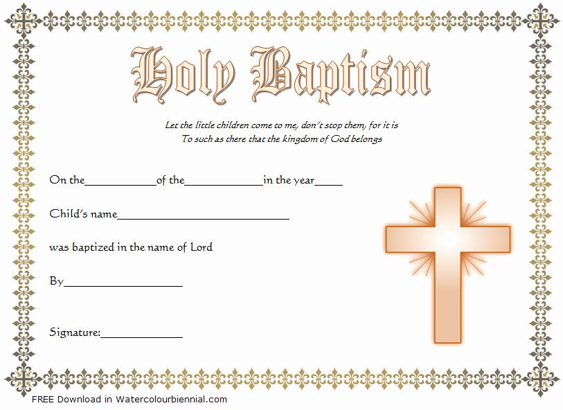 Microsoft Word Baptism Certificate Template Awesome Baptism Certificate Template Word [9 New Designs Free]