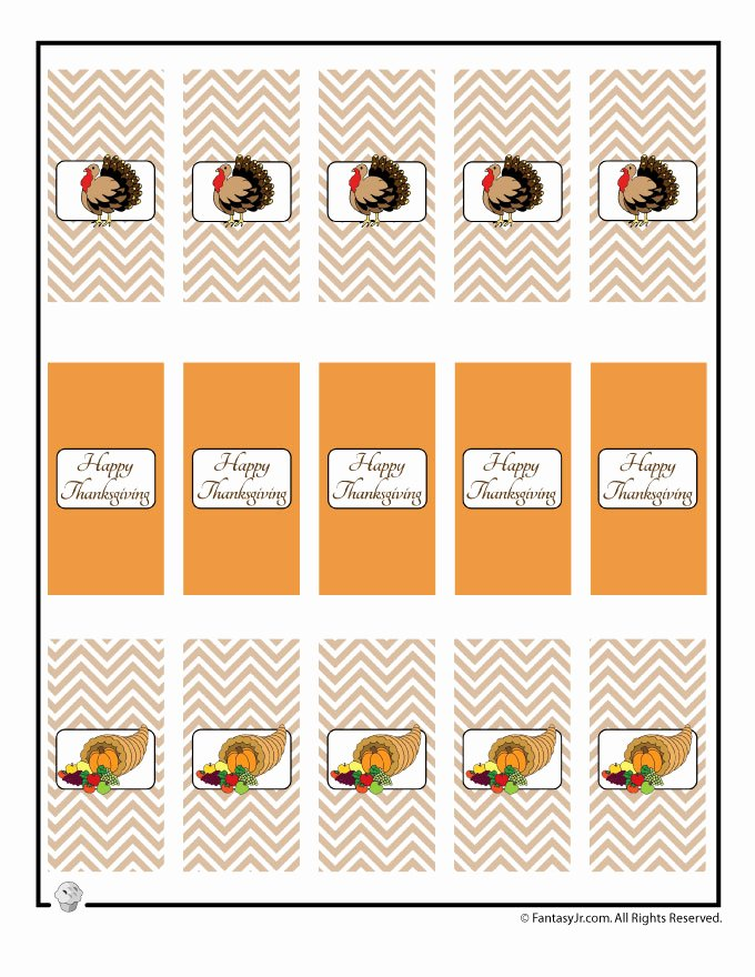 Mini Candy Bar Wrapper Template for Word Inspirational Thanksgiving Mini Candy Bar Wrappers to Print