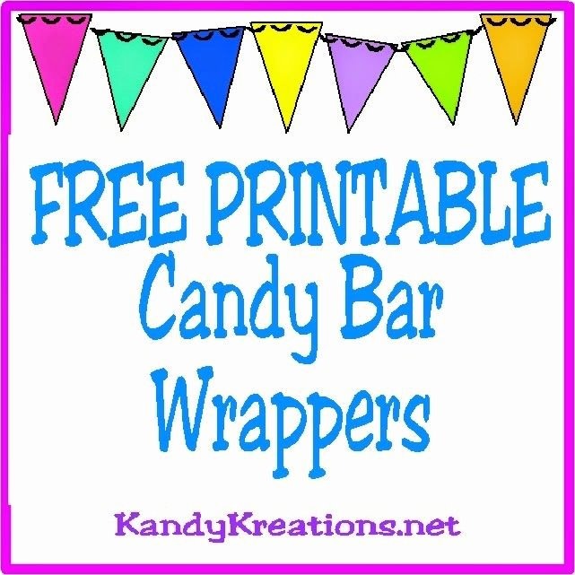 Mini Candy Bar Wrapper Template for Word Lovely 10 Printable Candy Bar Wrappers