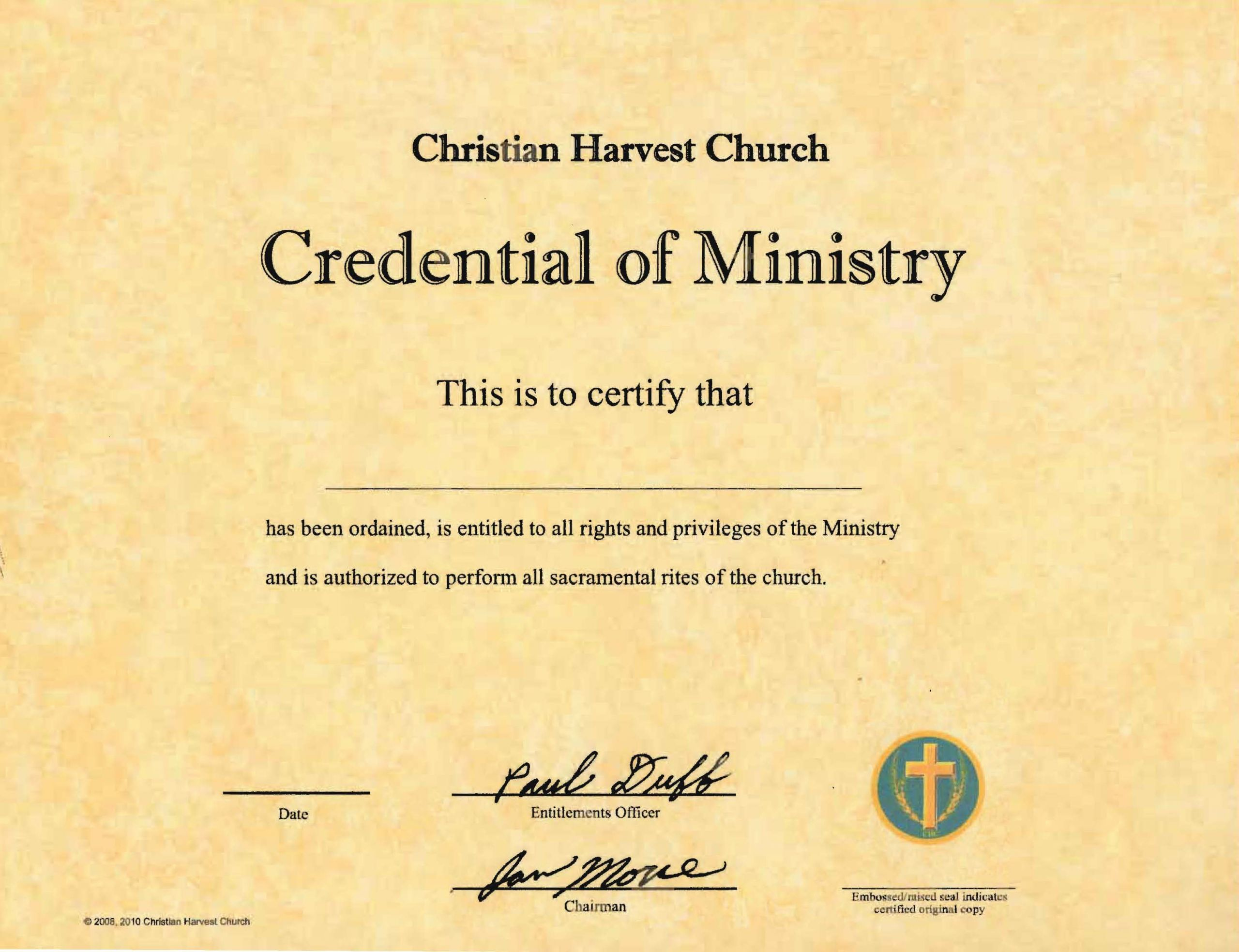 post ordination papers template