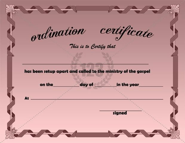 Minister License Certificate Template Luxury Best ordination Certificate Templates Free Download