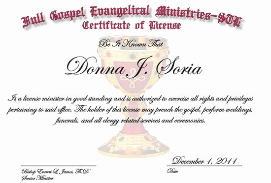 "Minister License Certificate Template Luxury Search Results for ""deacon ordination Certificate"