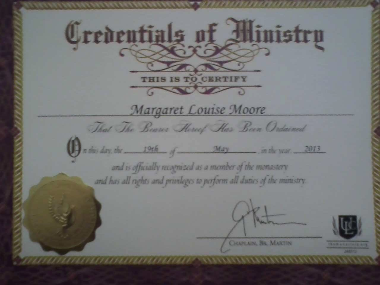 Minister ordination Certificate Template New Minister ordination Certificate Useful Deacon ordination