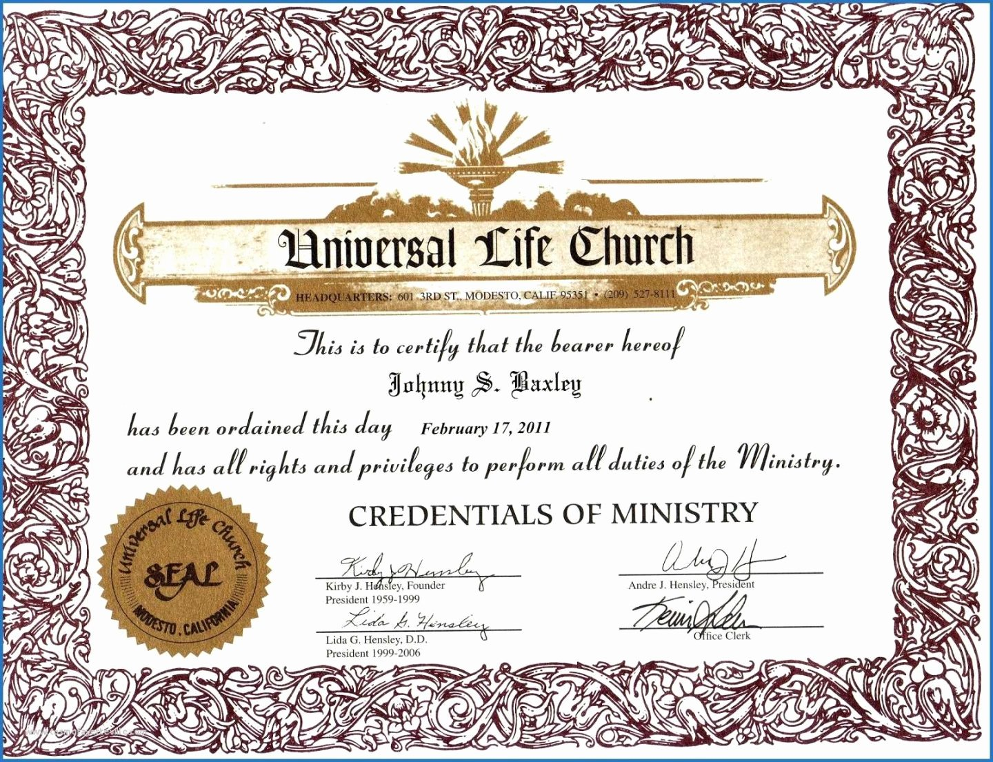 Minister ordination Certificate Template New Printable I 485 Birth Certificate Translation Unequaled