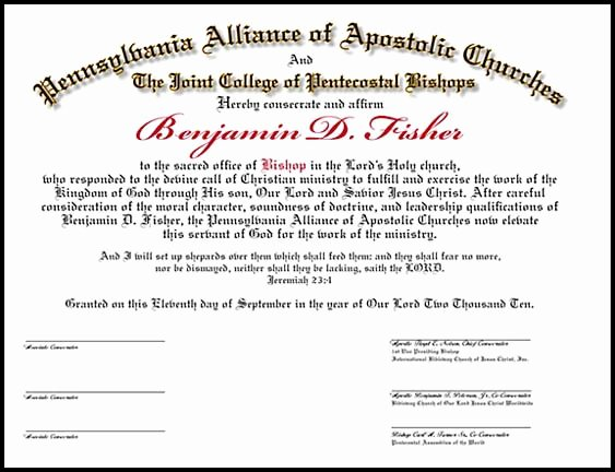 Ministerial License Certificate Template Best Of ordination Certificates for Your Church