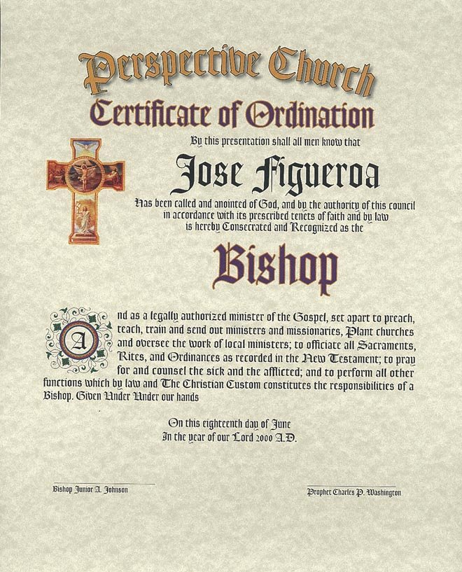 Ministerial License Certificate Template Fresh ordination Certificates for Your Church