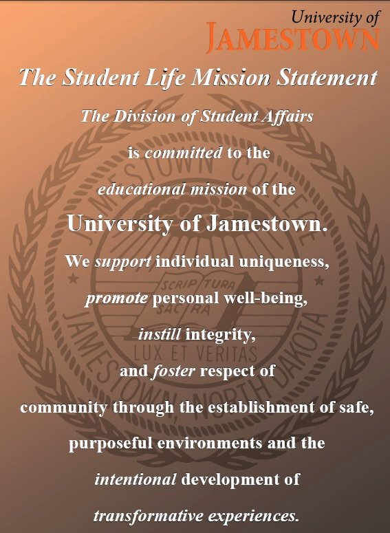 Mission Statement Examples for Students Fresh Fice Of Student Retention University Of Jamestown