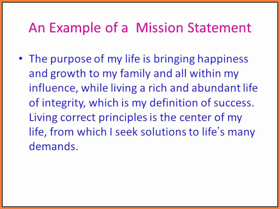 Mission Statement Examples for Students Fresh Student Mission Statement 4