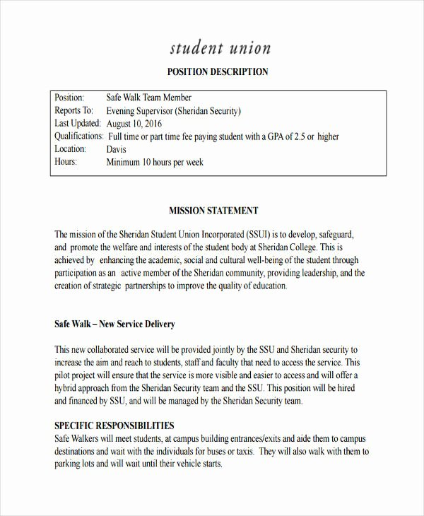 Mission Statement Examples for Students New Free 54 Mission Statement Examples & Samples In Pdf