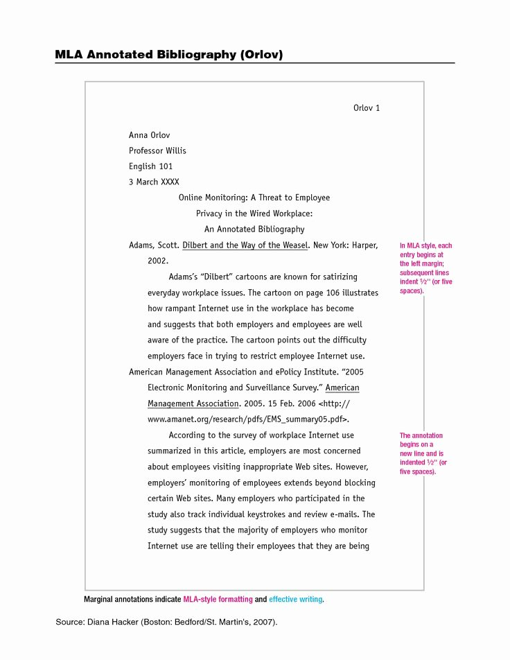 Mla 8 Outline Elegant Mla format Annotated Bibliography Google Search