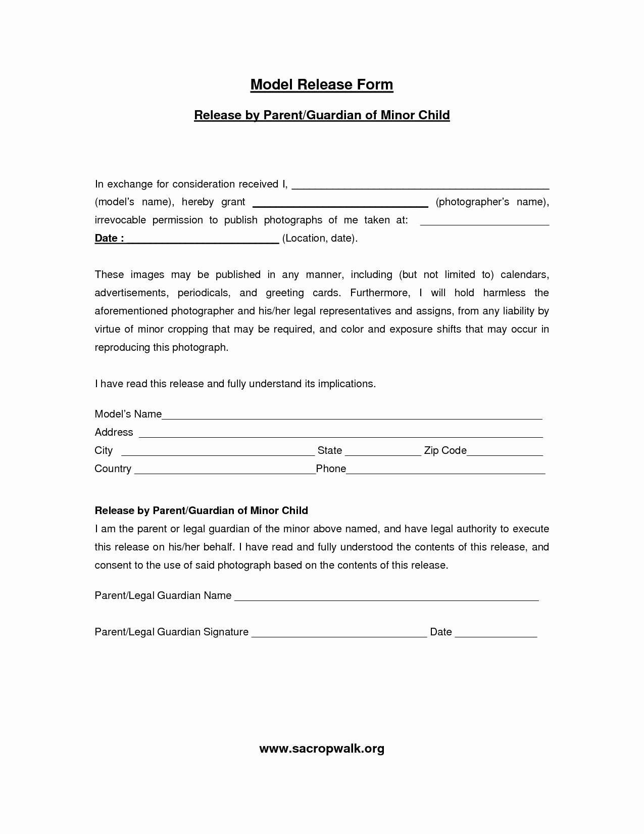 Model Release forms Awesome Model Release form Template