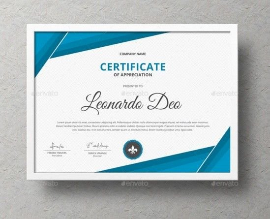 Modern Certificate Design Psd Inspirational Certificate Of Recognition Template Word Eps Ai and Psd