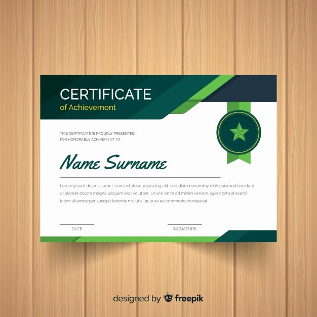 Modern Certificate Design Psd Lovely Star Badge Certificate Template Vector
