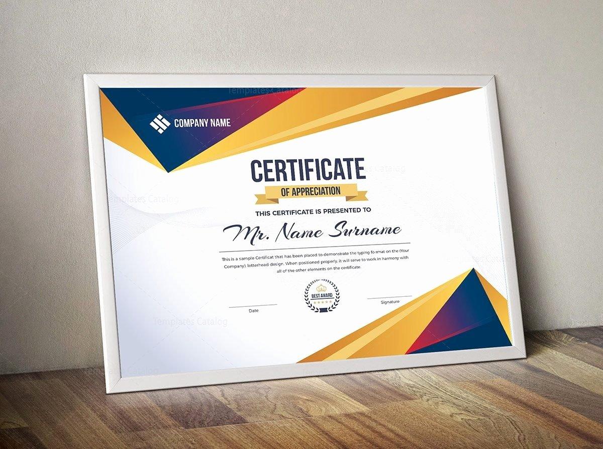 Modern Certificate Template Psd Awesome Modern Certificate Template Template Catalog