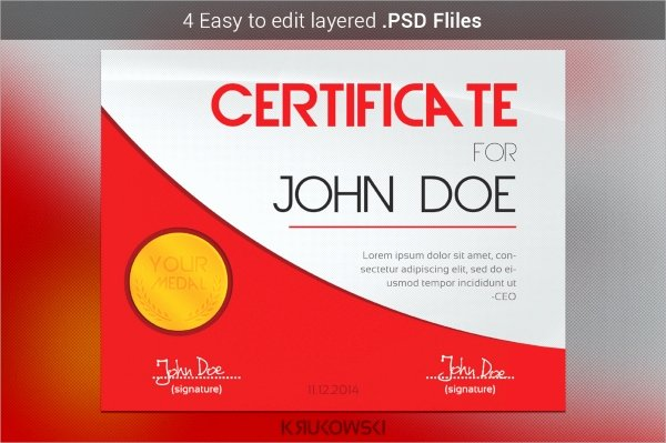 Modern Certificate Template Psd Beautiful 39 Psd Certificate Templates Psd Ai Word Indesign