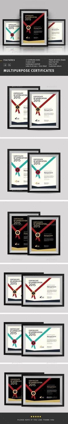 Modern Certificate Template Psd Elegant 21 Best Modern Certificate Design Images