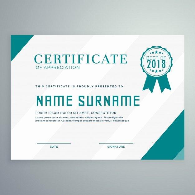 Modern Certificate Template Psd Fresh Simple Achievement Certificate Template Vector