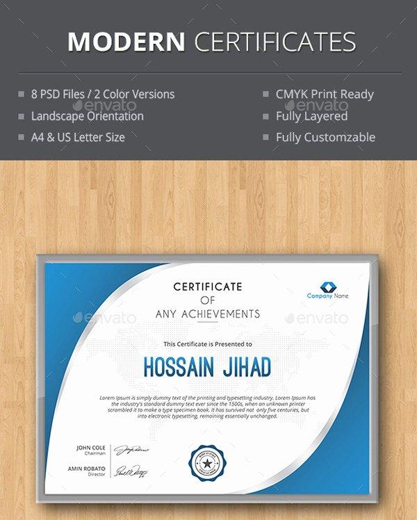 Modern Certificate Template Psd Inspirational top 3 Modern Certificate Template Psd Download Designs Hub