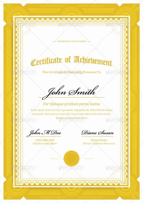Modern Certificate Template Psd Lovely 50 Diploma and Certificate Templates In Psd Word Vector