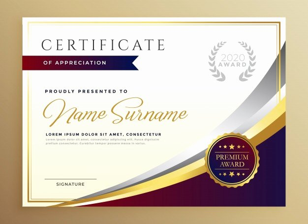 Modern Certificate Template Psd Lovely Certificate Vectors S and Psd Files