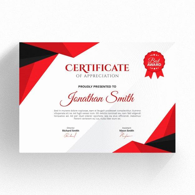 Modern Certificate Template Psd Lovely Modern Red and Black Certificate Template Psd File