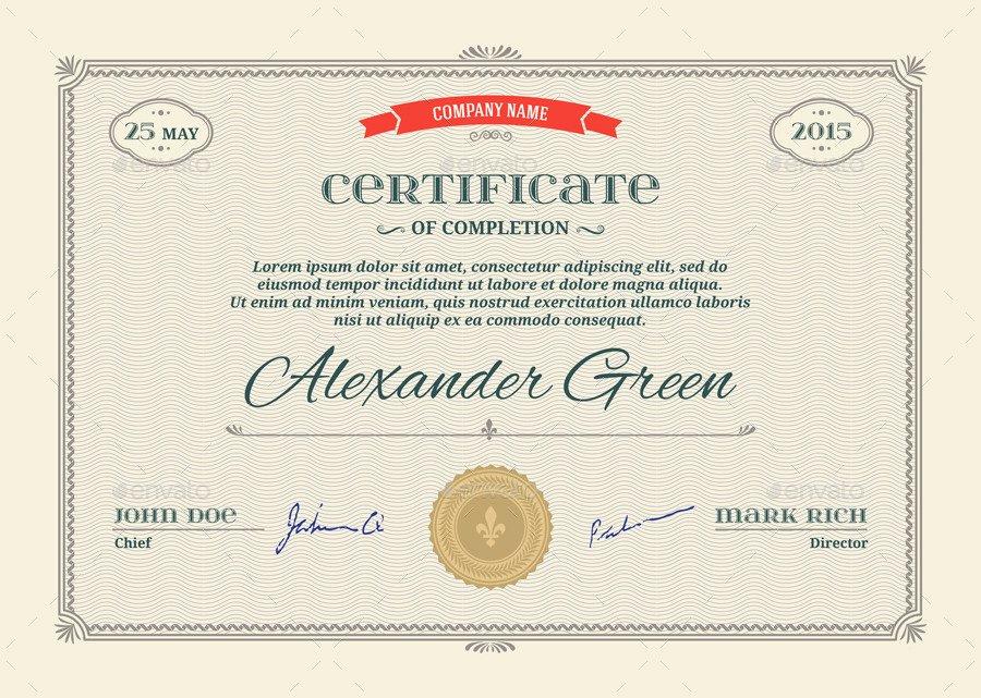 Modern Certificate Template Psd New Certificate Template Psd