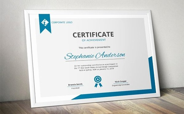 Modern Certificate Template Psd New Free 26 Certification Templates & Examples In Word