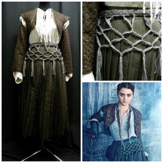 Most Customizable Dress Up Game New Game Of Thrones Arya Stark Costume Dress Custom by