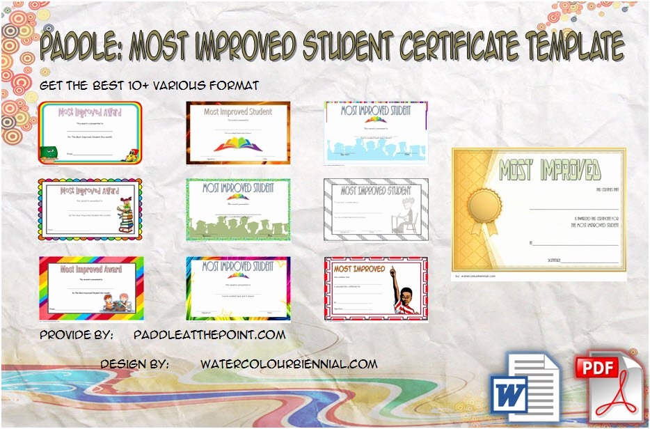 Most Improved Award Ideas Best Of Most Improved Student Certificate Printable 10 Best Ideas