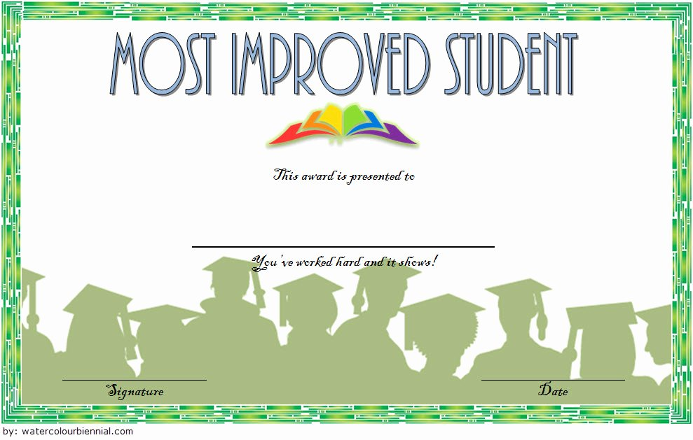 Most Improved Award Ideas Lovely Most Improved Student Certificate Printable 10 Best Ideas