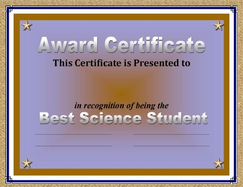 Most Improved Award Ideas Luxury Certificate Of Achievement 50 Awards Recognizing Student