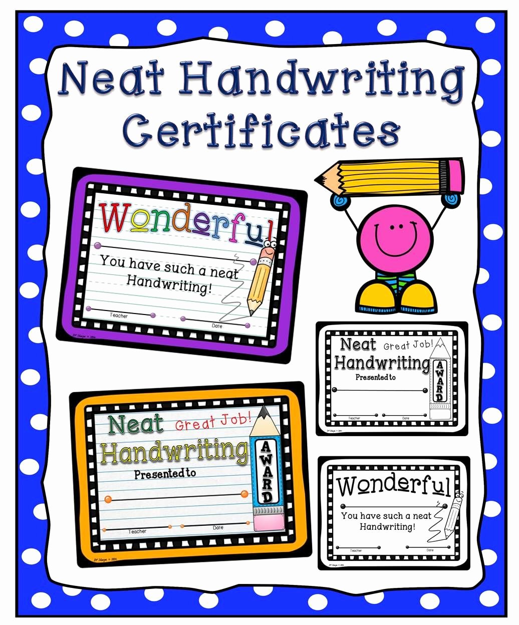 Most Improved Award Ideas New Neat Handwriting Clipart