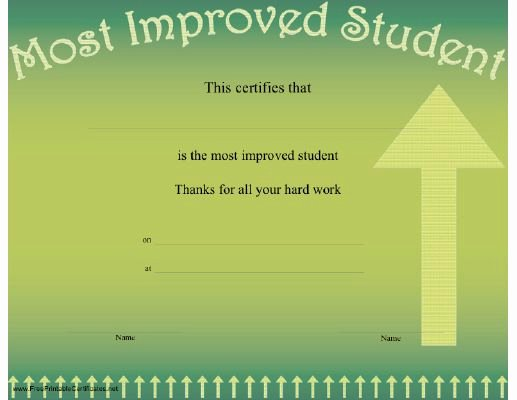 Most Improved Award Template Inspirational 34 Best Pe Awards & Certificates Images On Pinterest