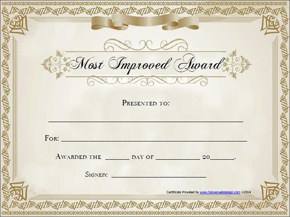 Most Improved Award Template Inspirational Award Certificate Template 29 Download In Pdf Word