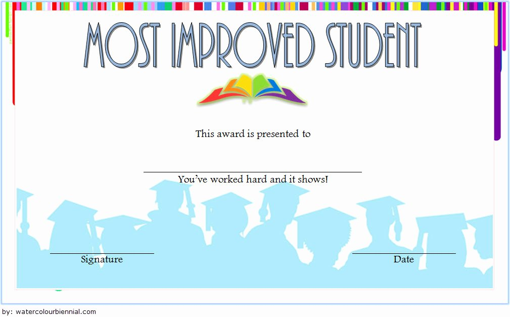 Most Improved Award Template Inspirational Most Improved Student Certificate 10 Template Designs Free
