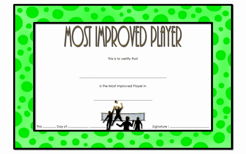 Most Improved Award Template Lovely Most Improved Player Certificate Template 7 Best Choices