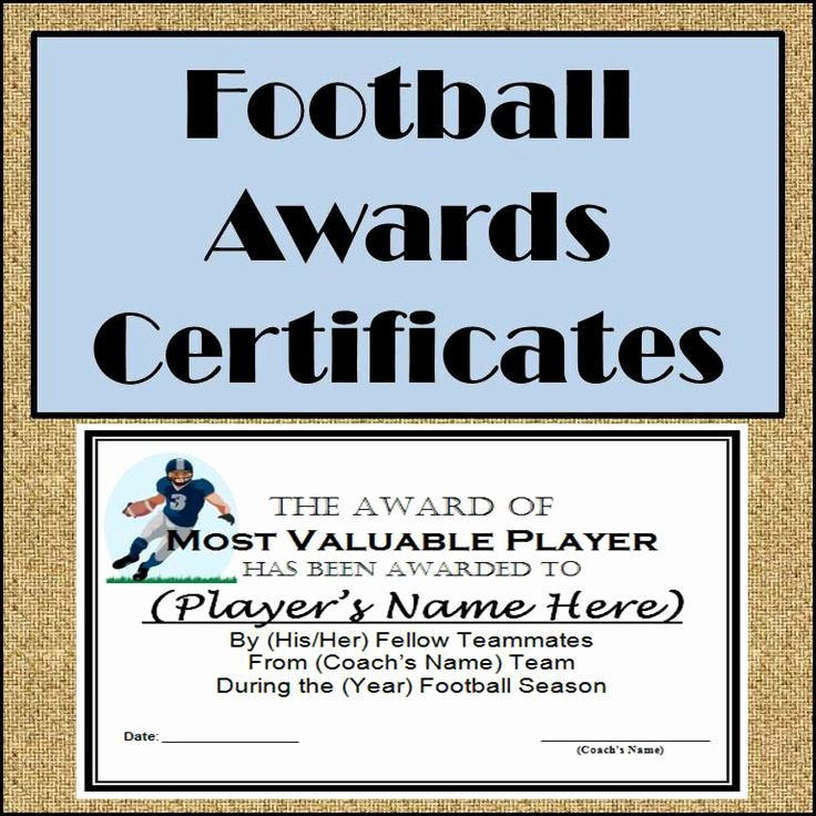 Most Improved Award Template New Football Awards Certificates and Nomination Ballots 9