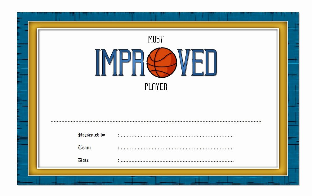 Most Improved Award Template Unique Most Improved Player Certificate Template 7 Best Choices