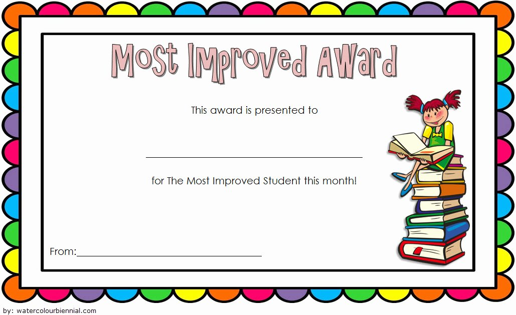 Most Improved Award Wording Fresh Most Improved Student Certificate 10 Template Designs Free